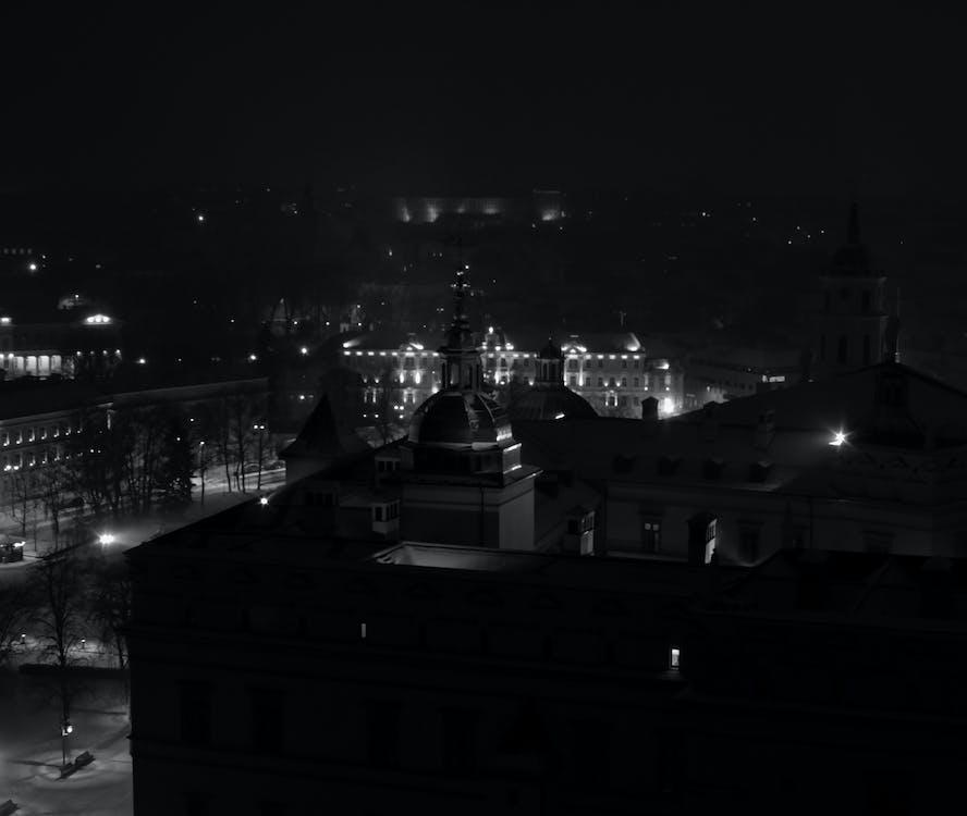 冬, 夜の街の無料の写真素材