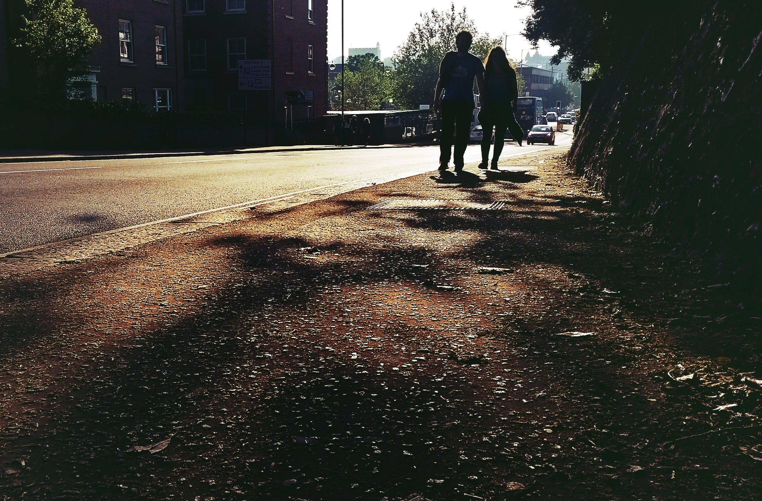 Free stock photo of road, couple, street, walking