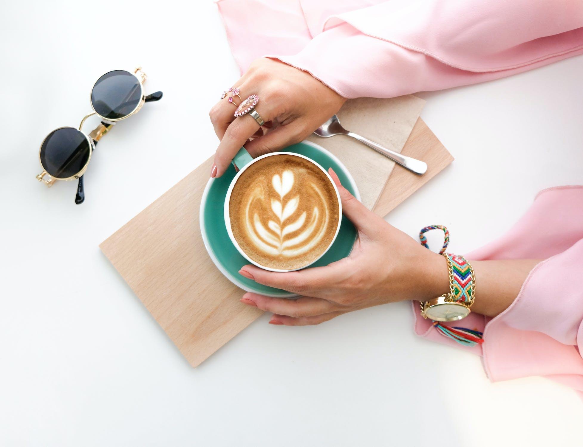 Coffee, Cup, Macbook, Laptop, Working, Breakfast, Bed