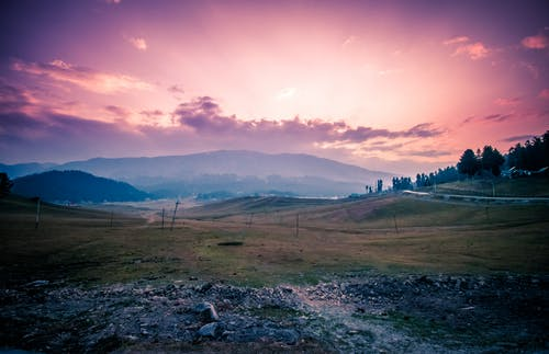 Ingyenes stockfotó domb, ég, este, felhők témában