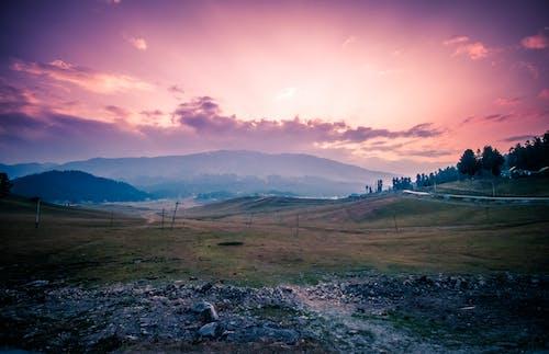 Gratis stockfoto met avond, berg, dageraad, gras