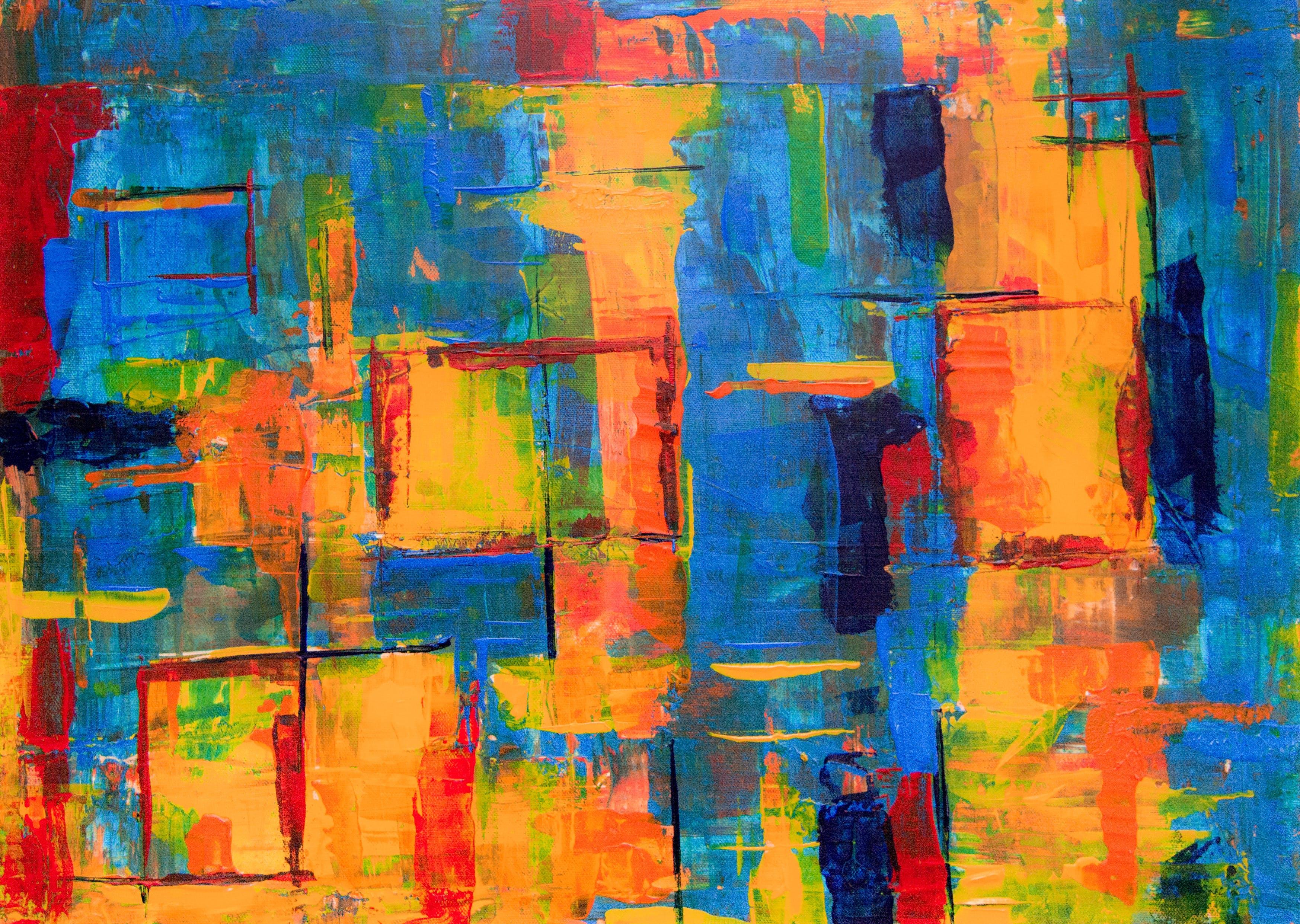 그림, 다채로운, 생생한 색상, 아크릴 그림의 무료 스톡 사진