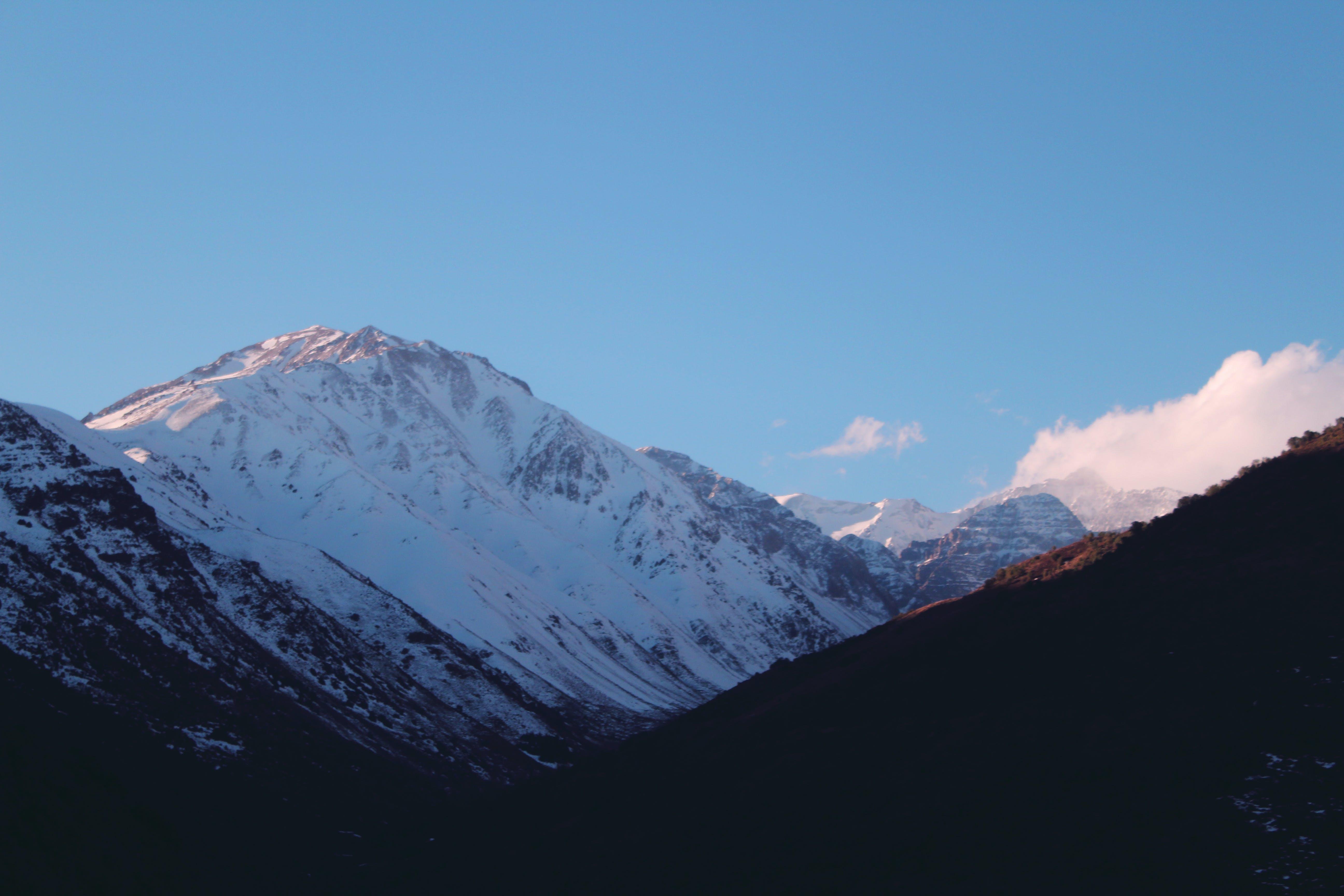 Free stock photo of mountain, mountain range, snow, snow capped mountain