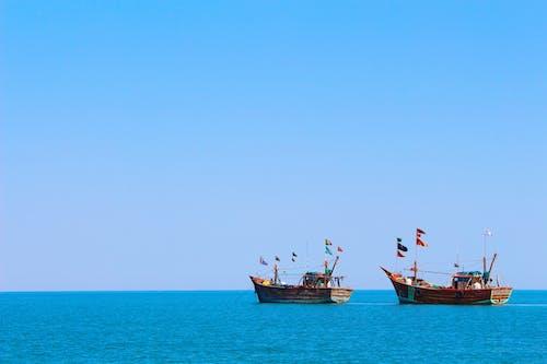 deniz, deniz araçları, deniz manzarası, gemiler içeren Ücretsiz stok fotoğraf