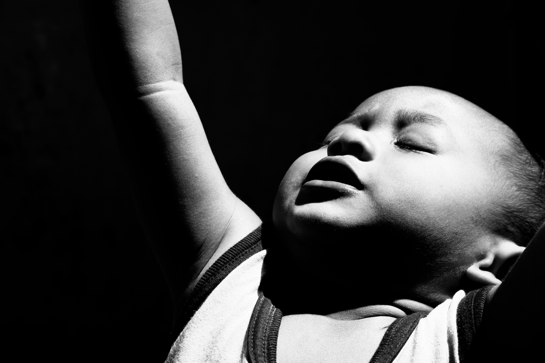 Free stock photo of portrait, kids, black and white, bnw