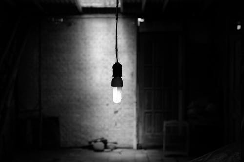Free stock photo of black and white, bnw, lamp, vintage