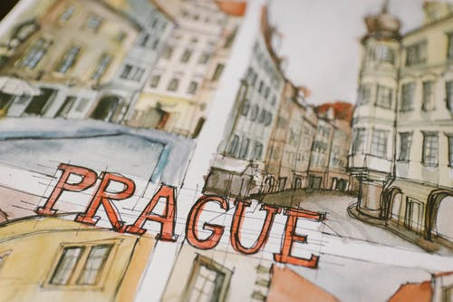 수채화, 스케치, 프라하의 무료 스톡 사진