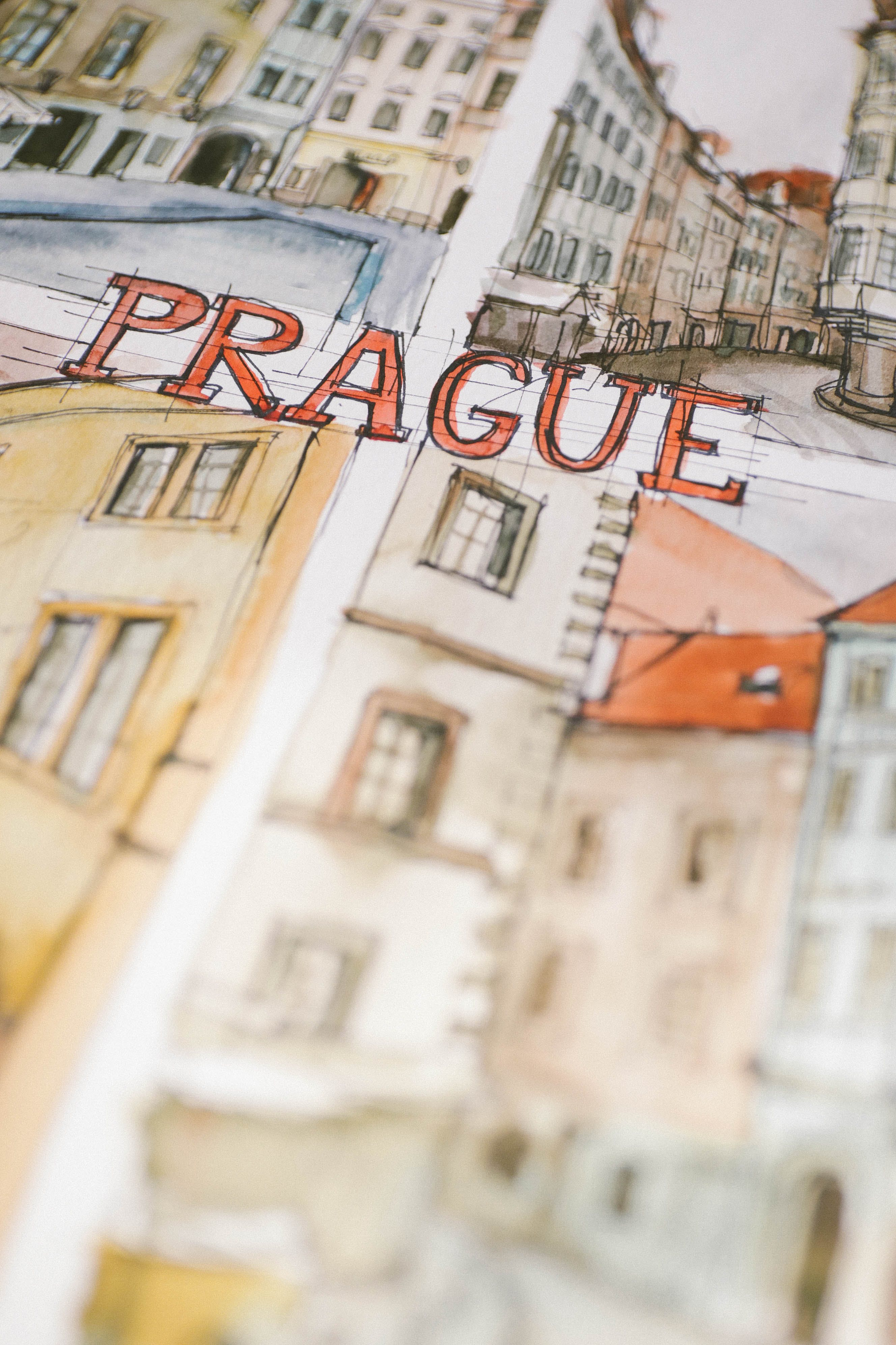 Free stock photo of prague, sketch, watercolor