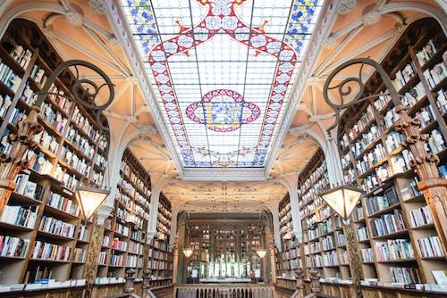 Free stock photo of architectural detail, bookshelves, bookshop, bookstore