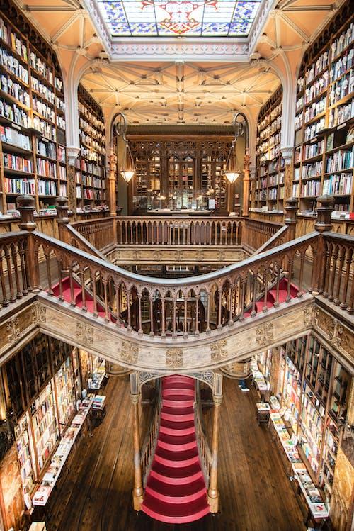 Photos gratuites de à l'intérieur, architecture, bâtiment, bibliothèque