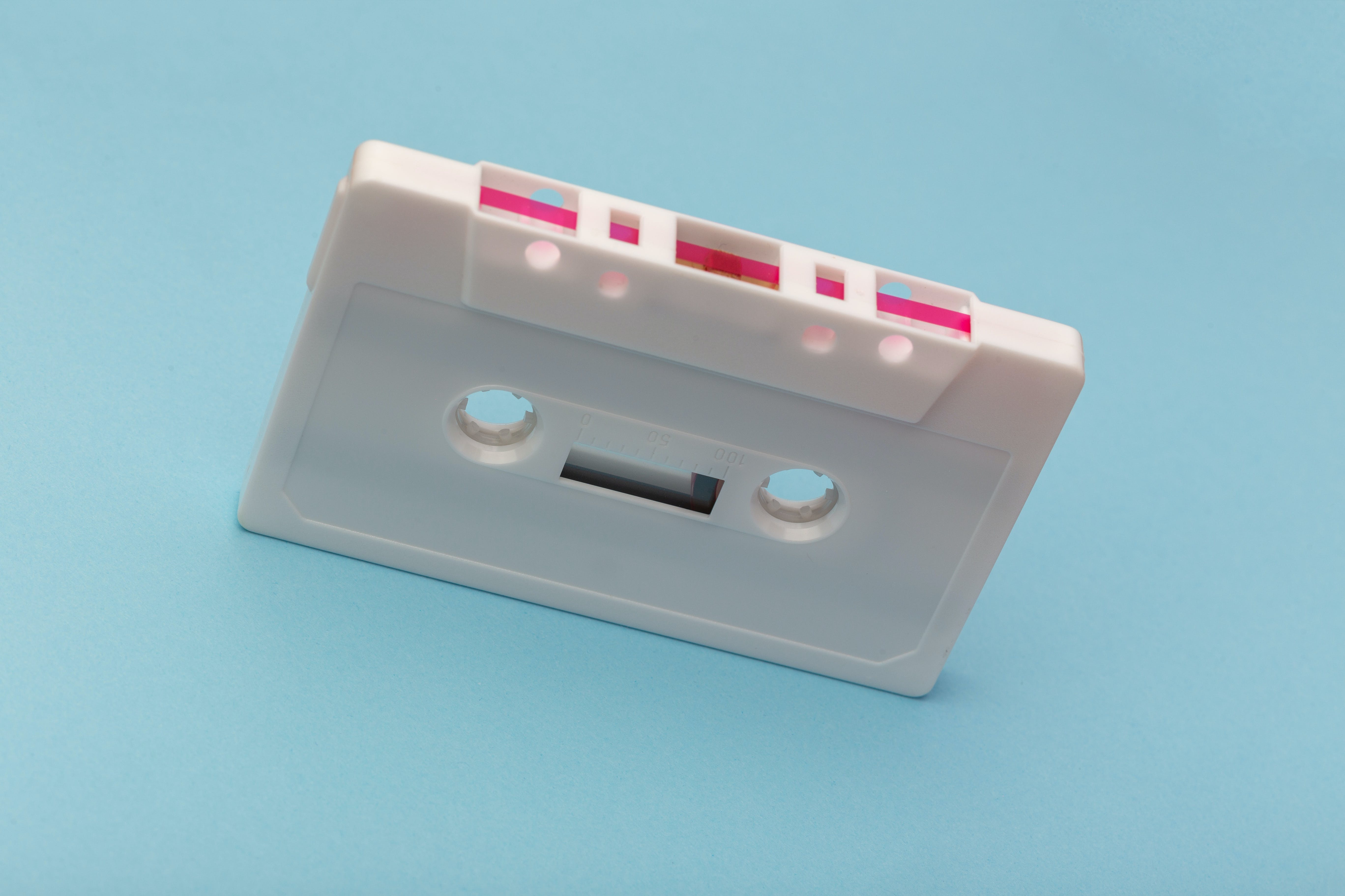 White Cassette Tape