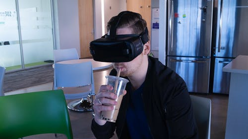Free stock photo of boba tea, cold drink, man, oculus
