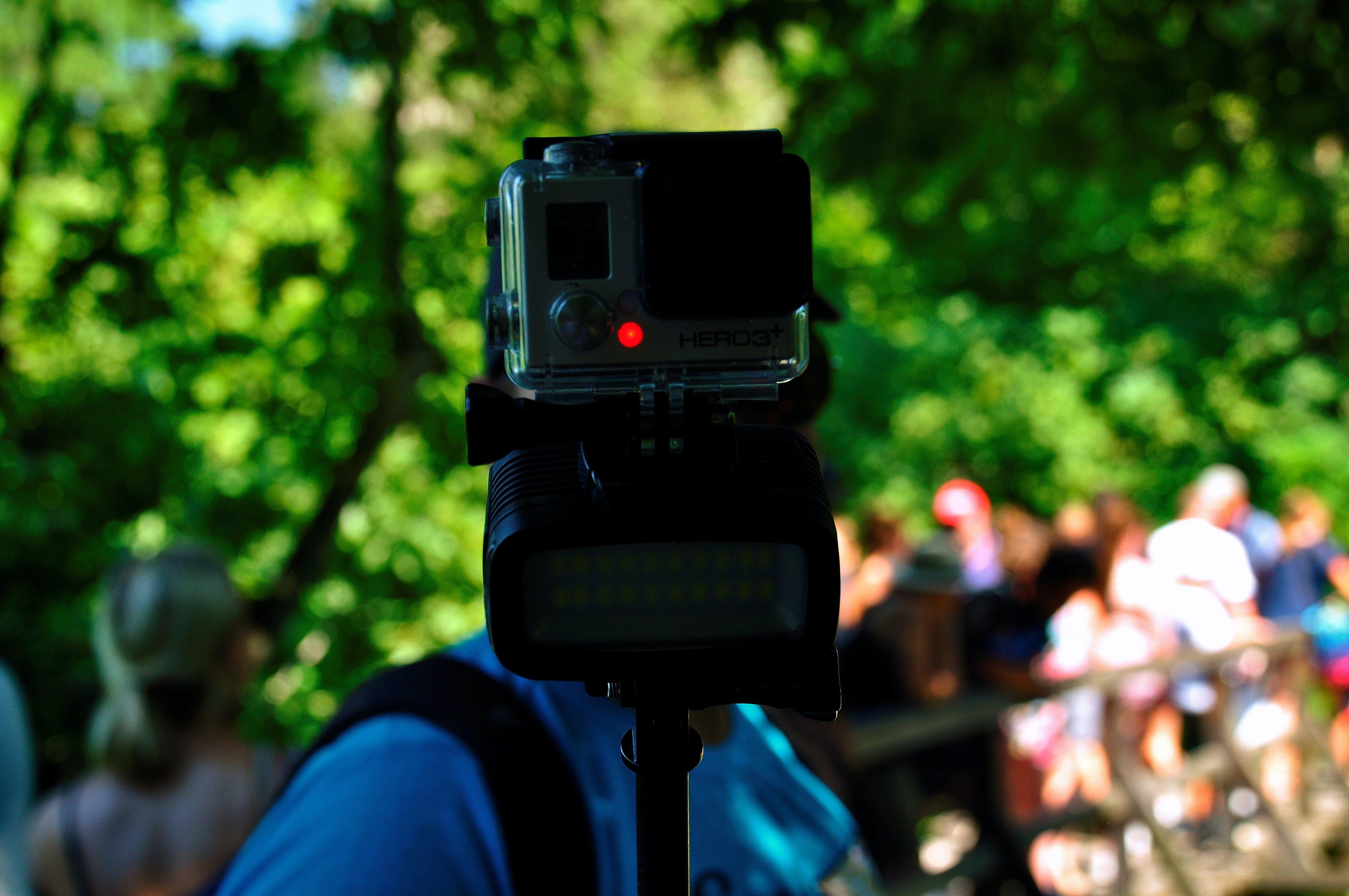 camera, flashlight, go pro
