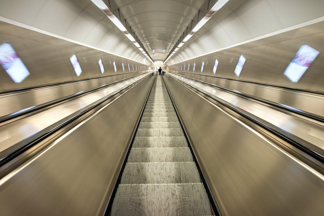 eskalátor, perspektiva, trubka