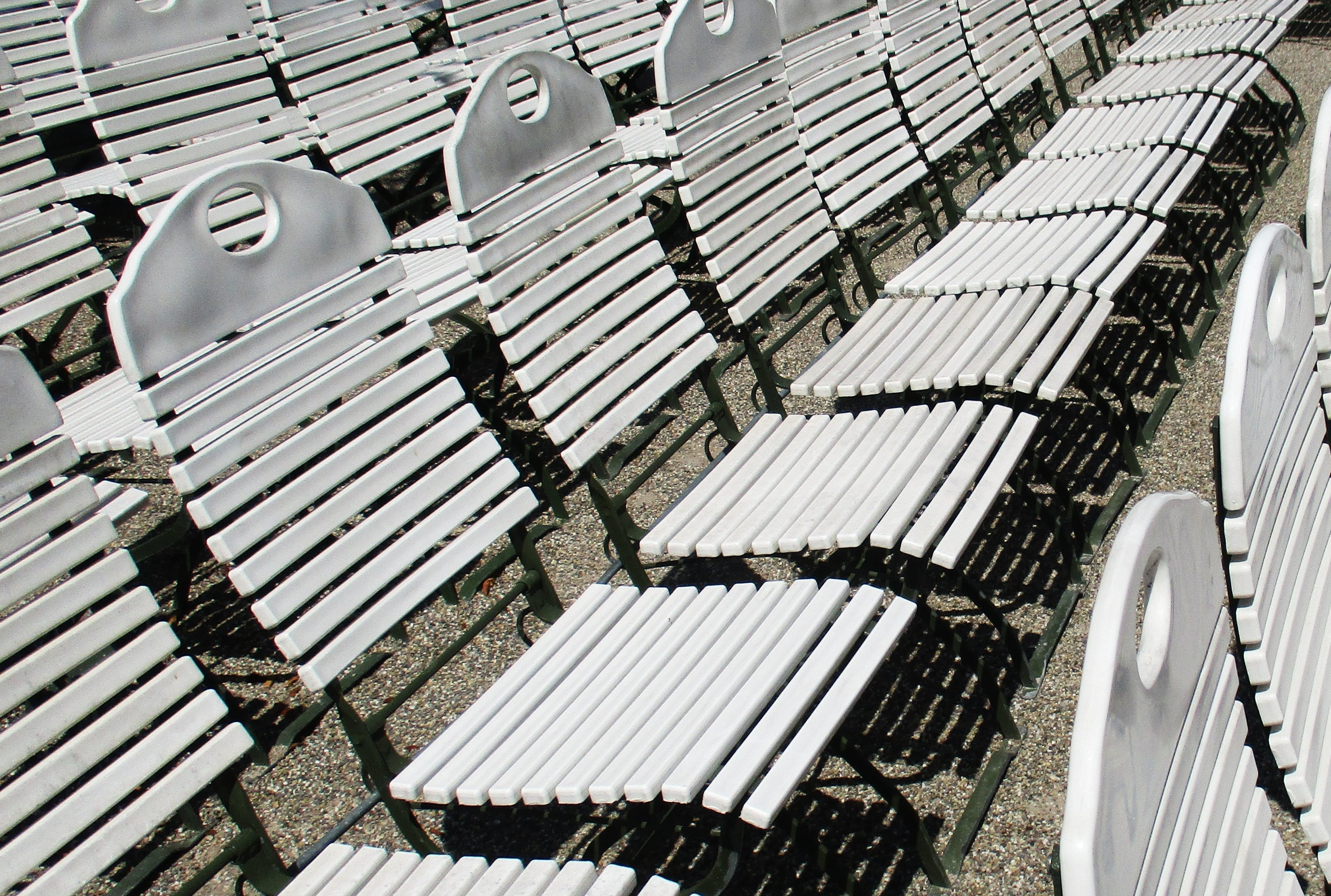 White Gang Chairs
