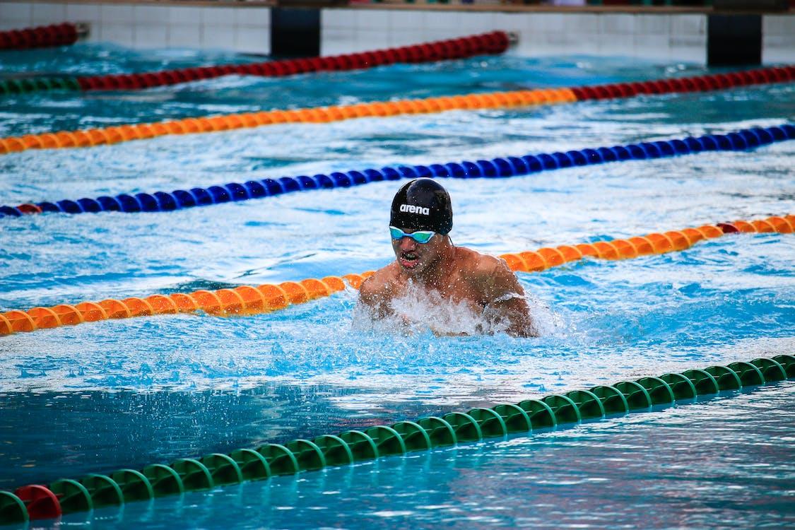acqua, adulto, atleta