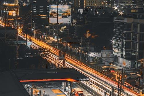 商業, 城市, 夜間攝影, 市中心 的 免费素材图片