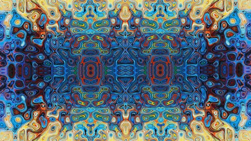Foto d'estoc gratuïta de art del caleidoscopi, color, nova era