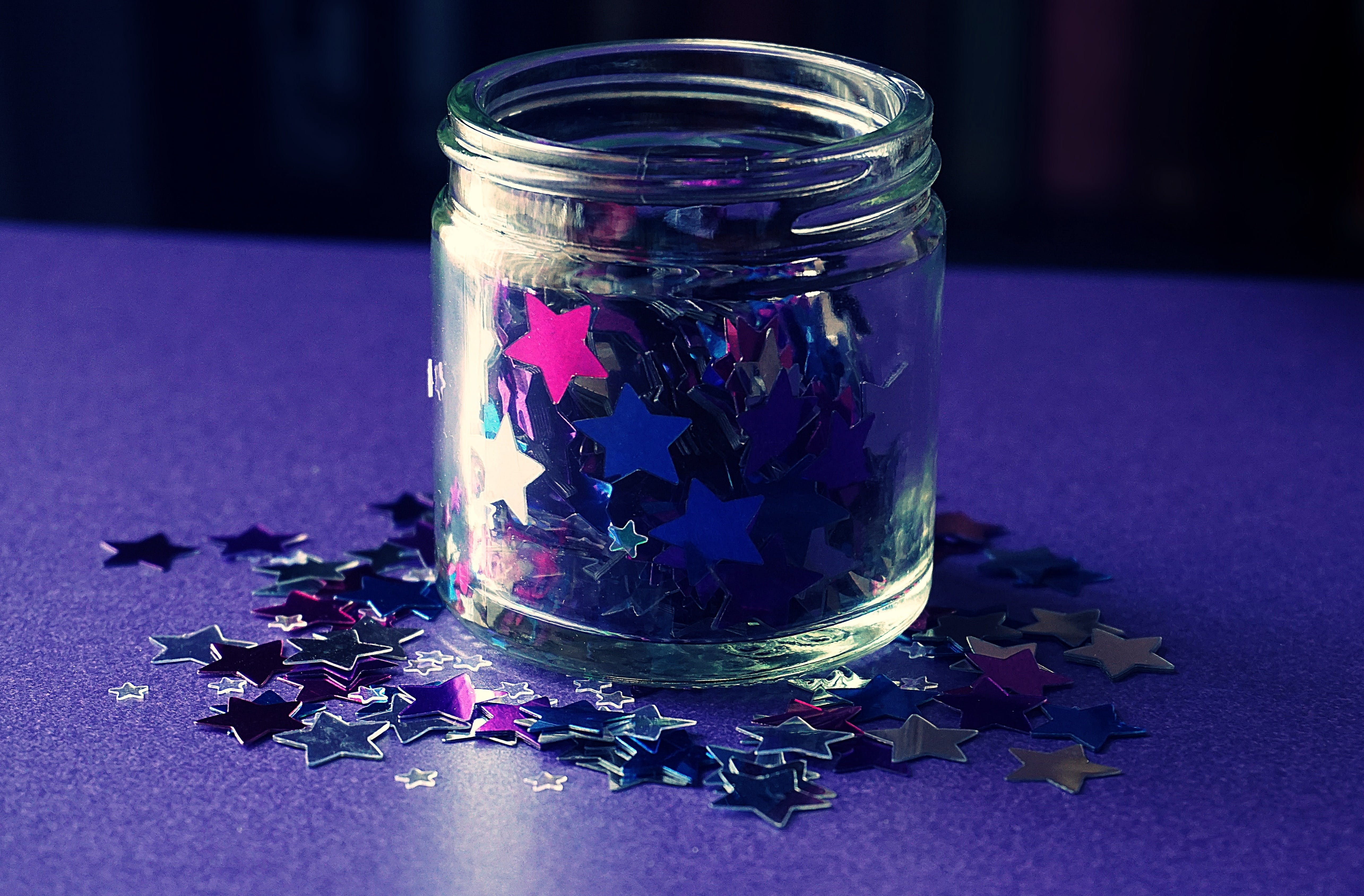 Star Shaped Glitter in a Jar