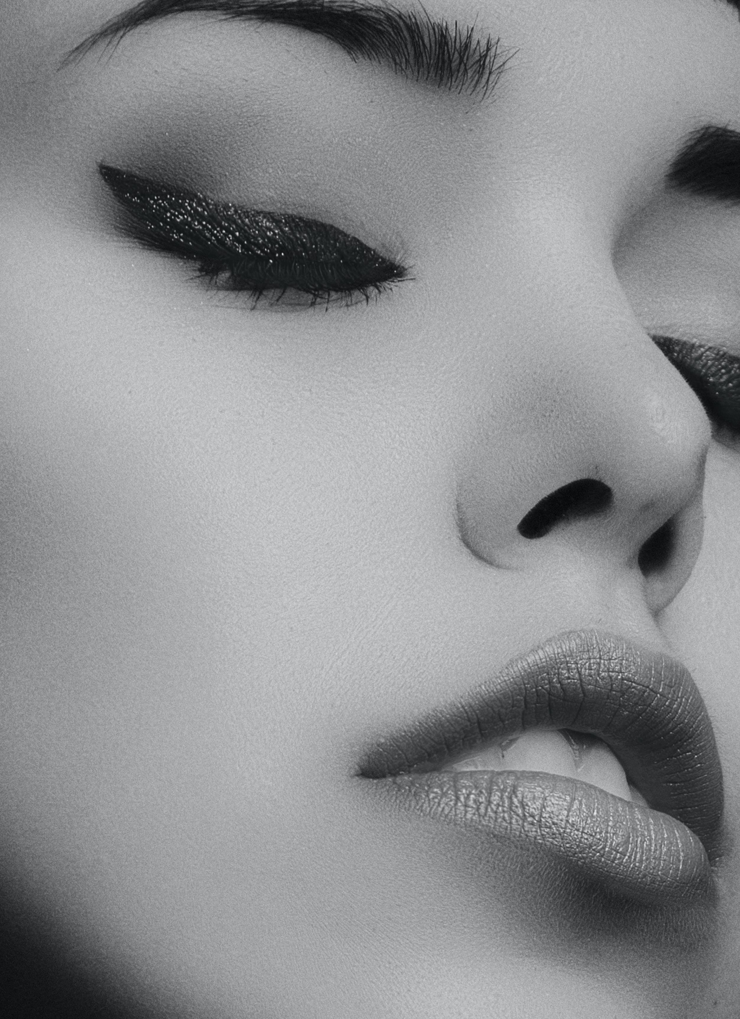 Graycale Photography of a Woman's Face