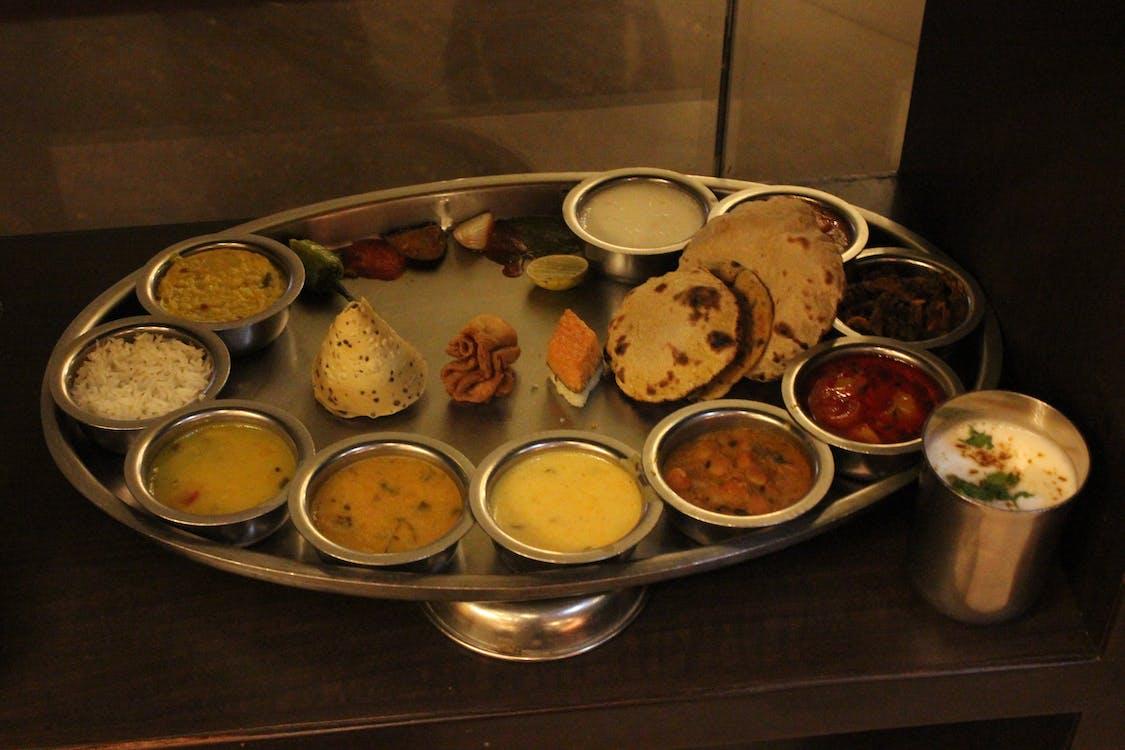 Free stock photo of food photography, thali