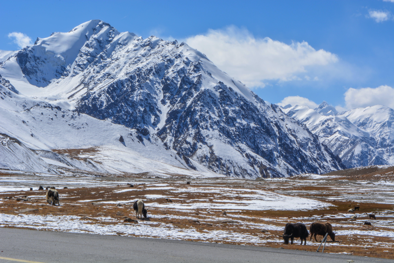 Free stock photo of china, clouds, khunjerab, mountains