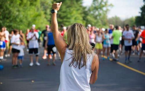 Free stock photo of athlete, athletic girl, buffalo, encouragement