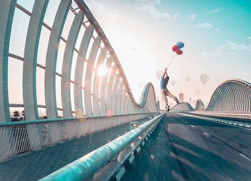 Kostenloses Stock Foto zu ballons, dubai, heißluftballon, himmel