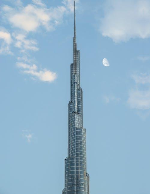 Kostnadsfri bild av burj khalifa, dubai, förenade arabemiraten, halvmåne