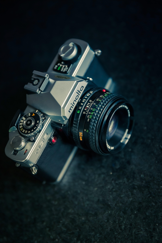 Black and Gray Minolta Bridge Camera