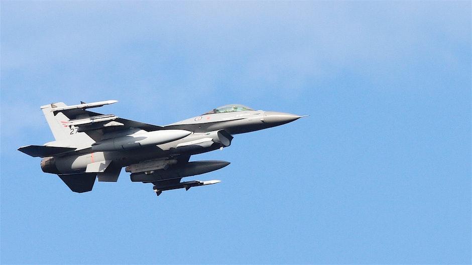 Grey Fighter Jet Flying