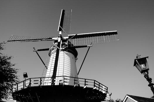 Free stock photo of black-and-white, landscape, landmark, building