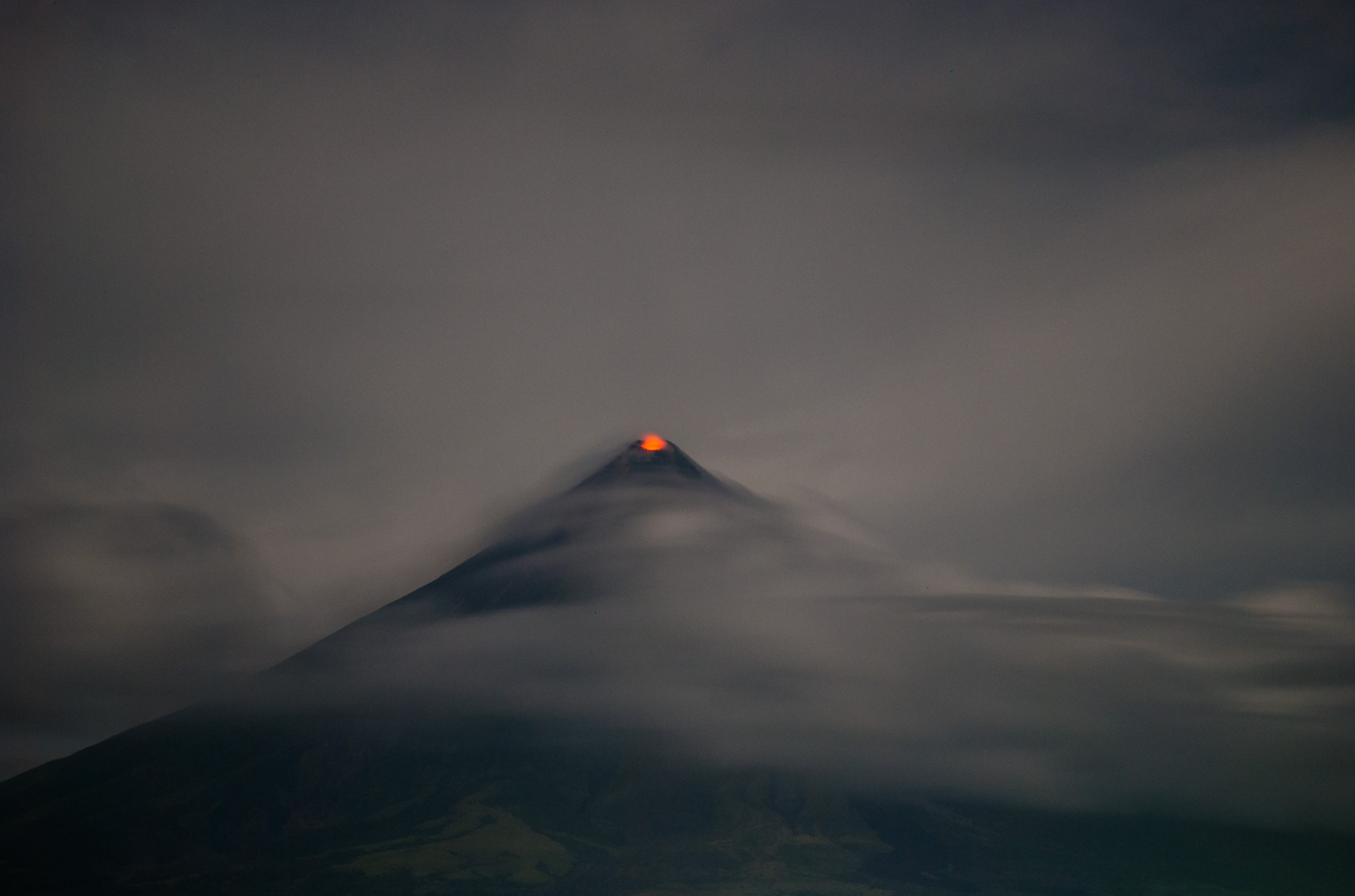 Free stock photo of active volcano, asia, clouds, cone