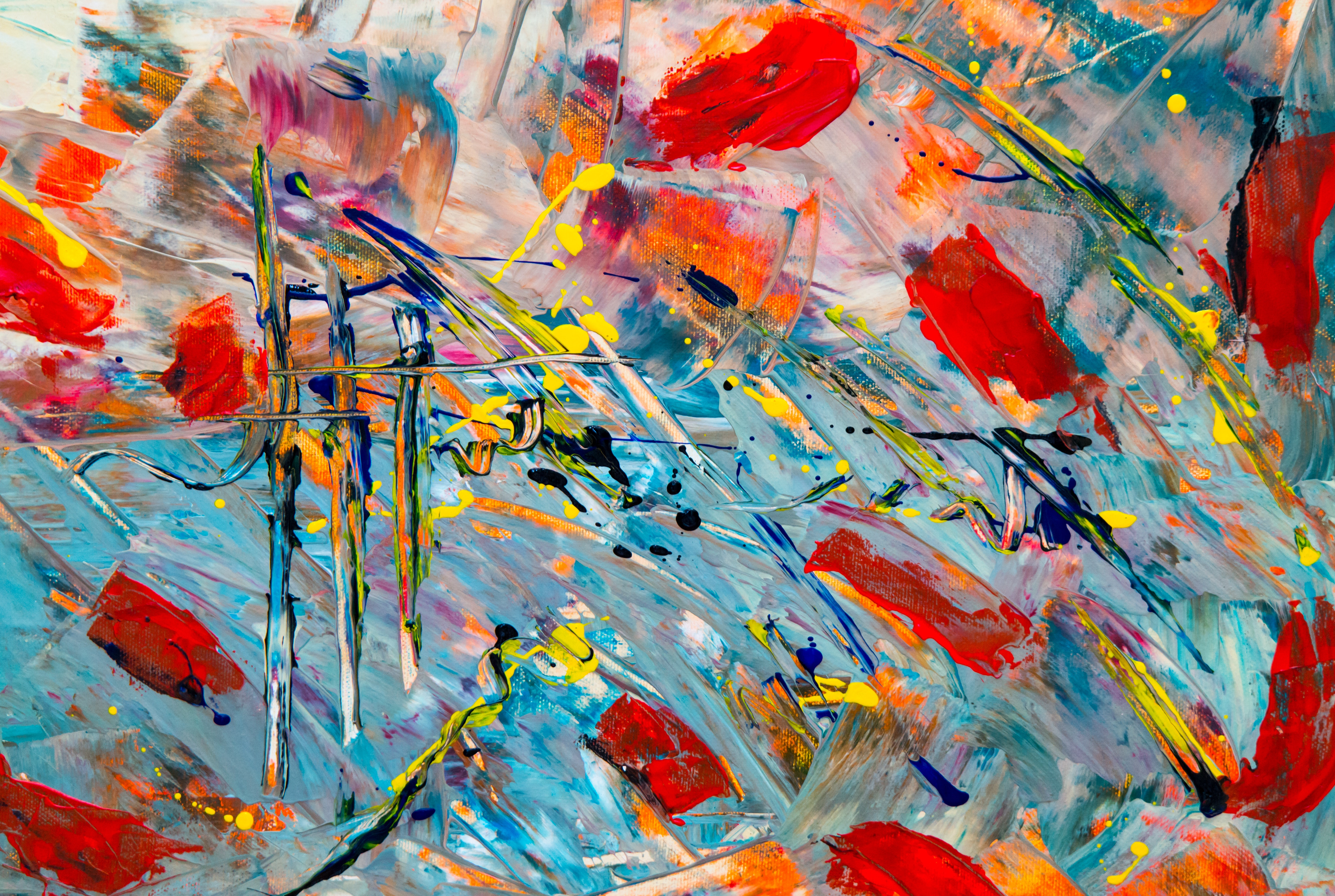 Multicolored Abstract Painting Free Stock Photo