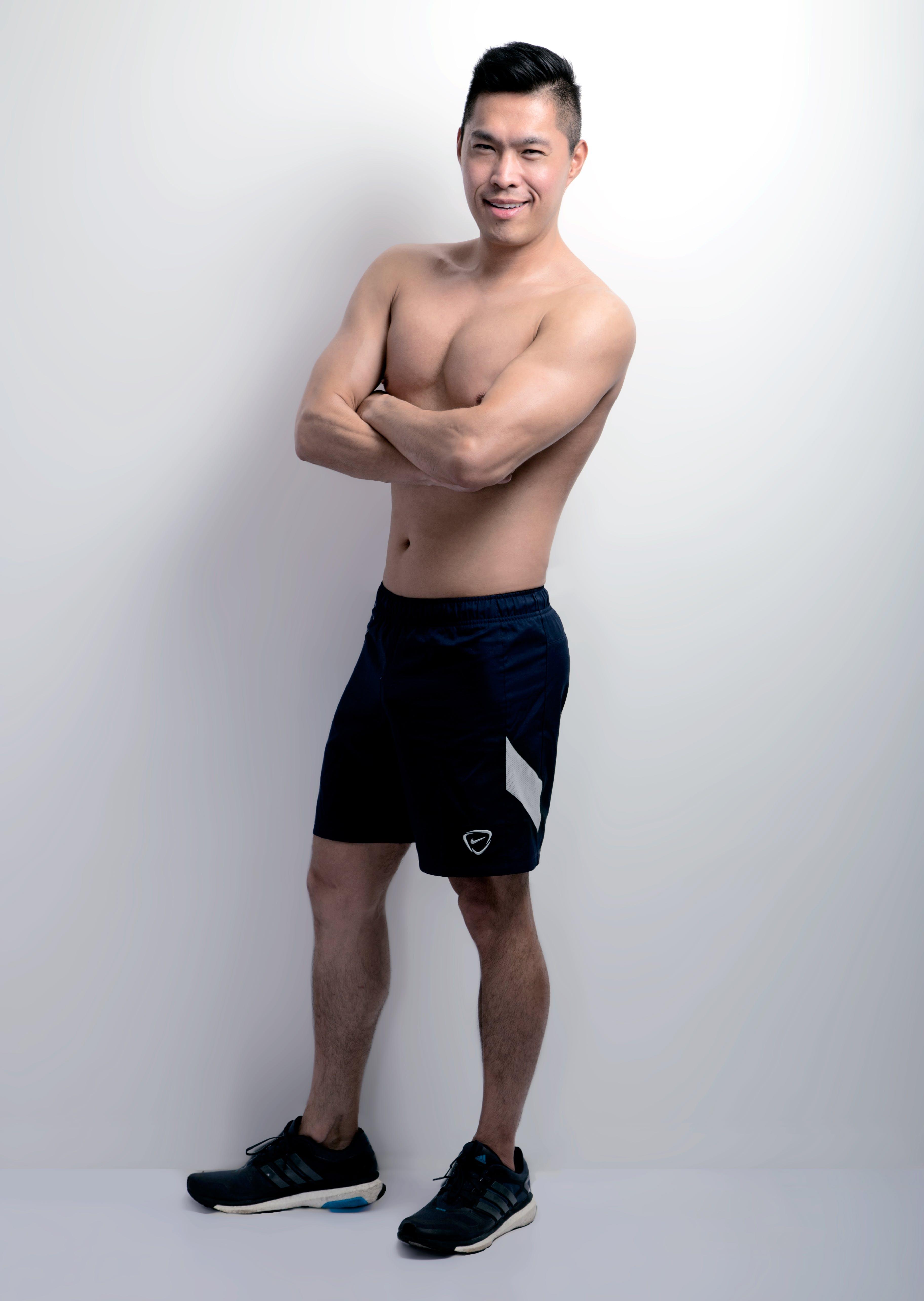 Kostenloses Stock Foto zu asiatisch, fitness, model, ohne hemd