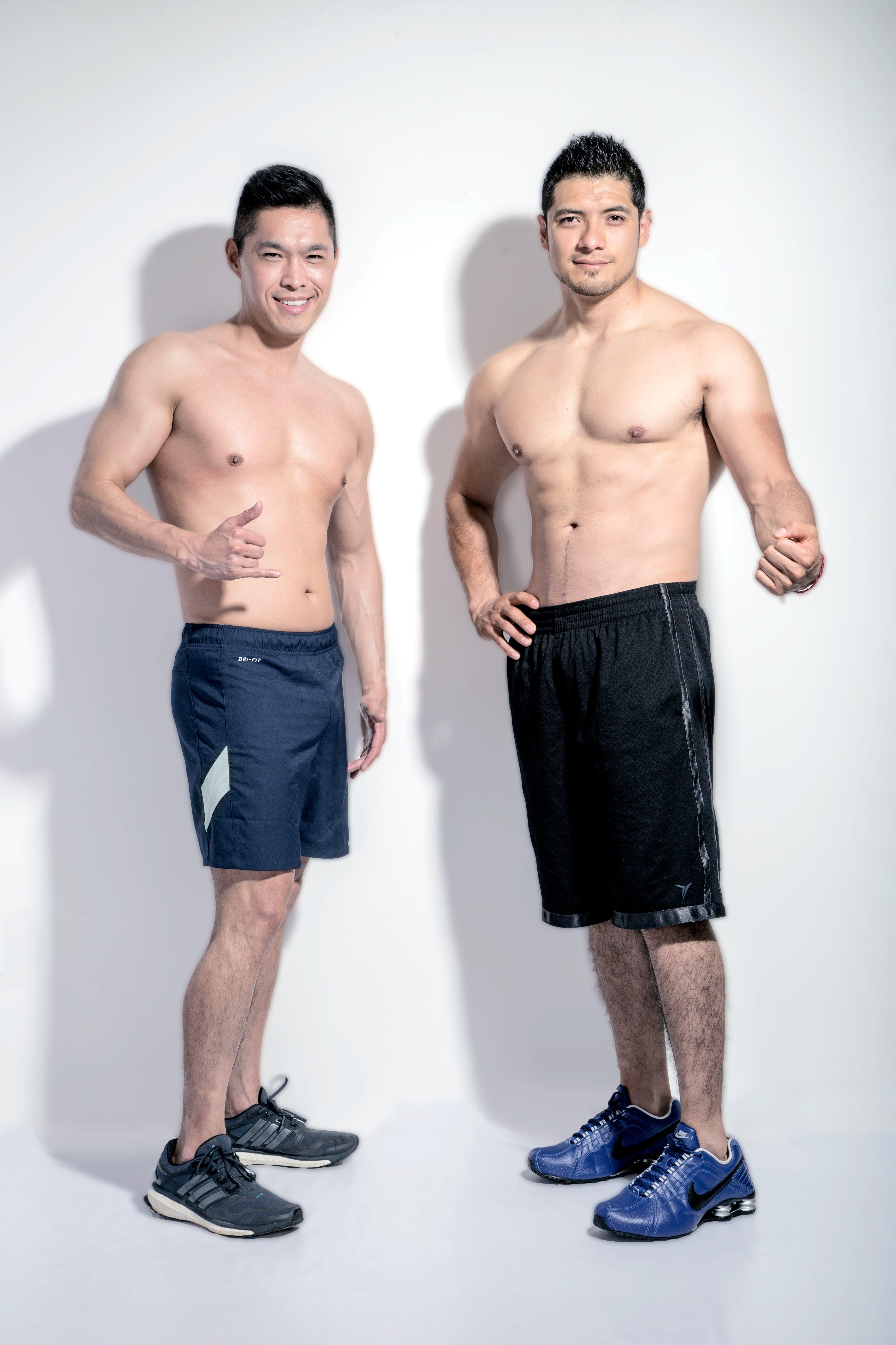 Free stock photo of couple, fitness, man, men