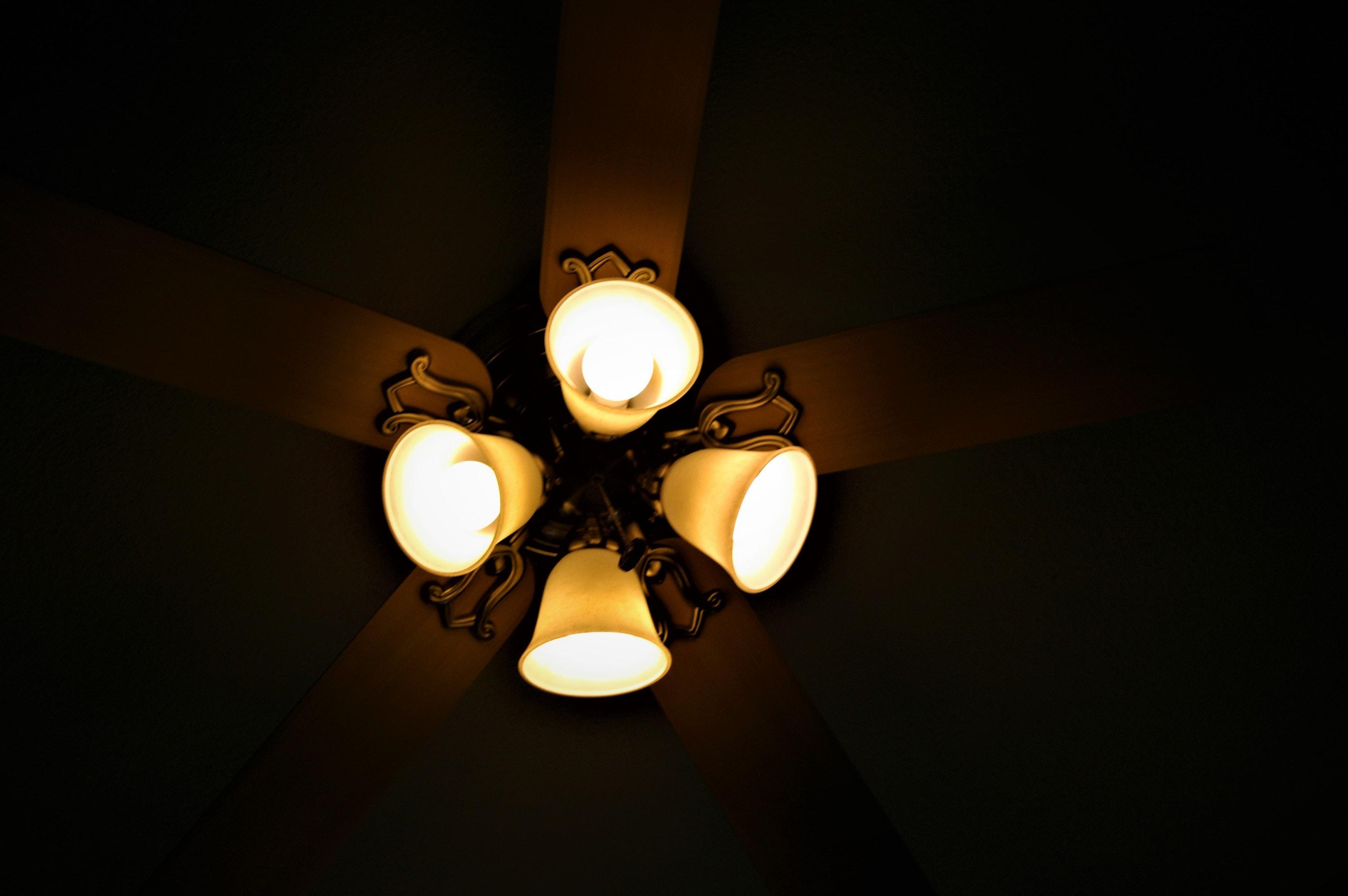 taklampa med fläkt