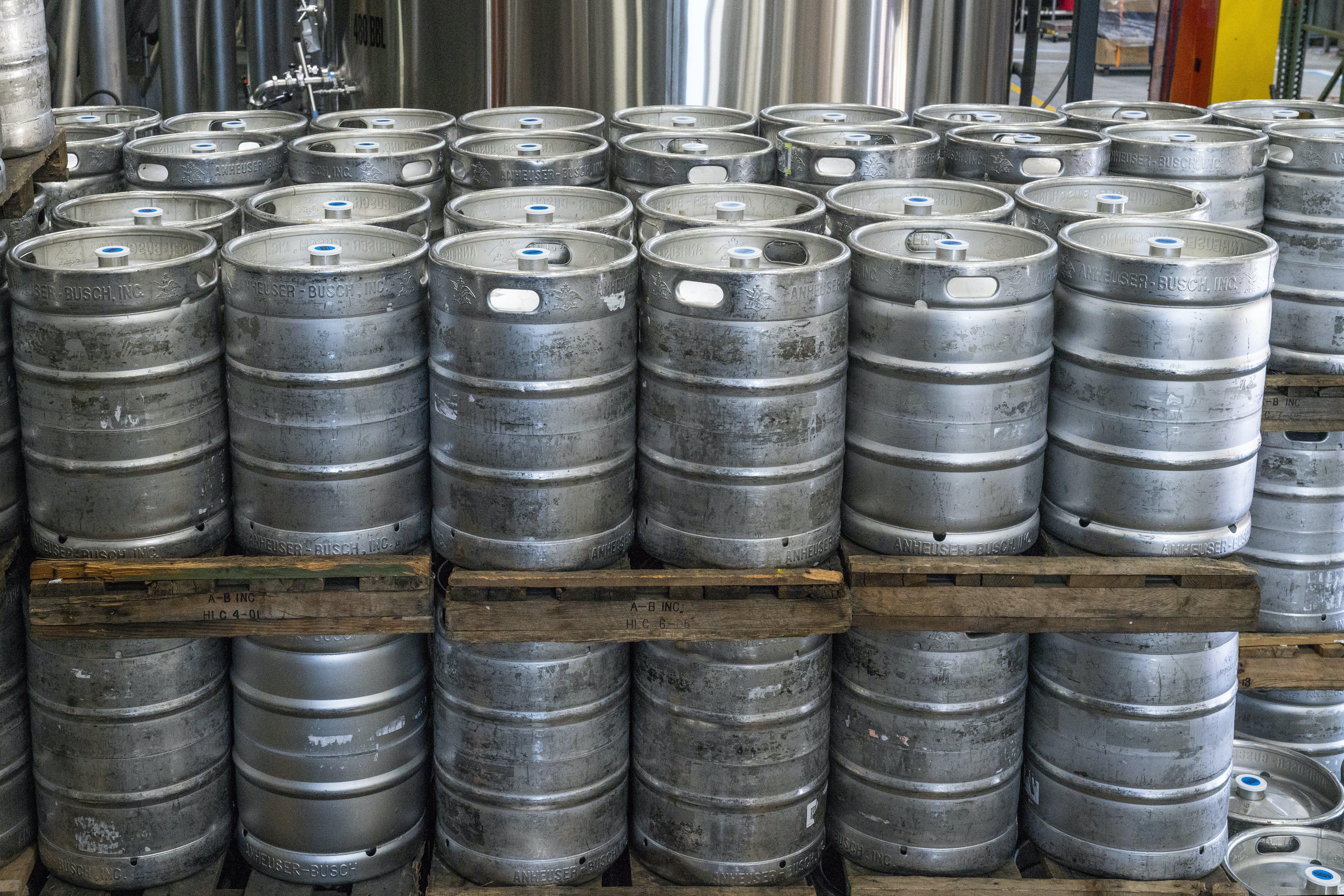 alkohol, behållare, bryggeri