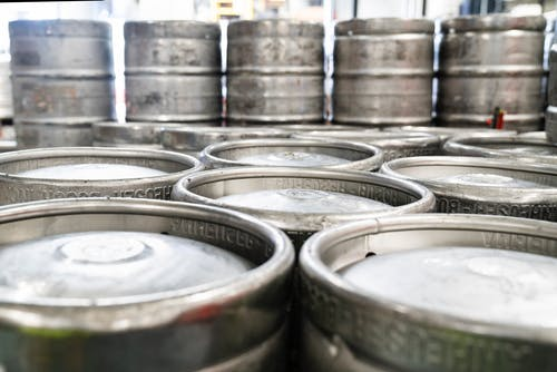 Close-up Photography of Silver Keg Lot