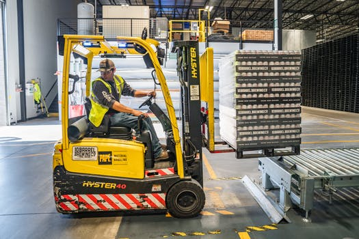 Person Using Forklift