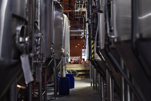 Fotos de stock gratuitas de acero, adentro, azul, cervecería