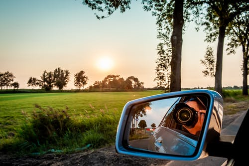 Fotobanka sbezplatnými fotkami na tému auto, bočné zrkadlo, cestovať, dedinský