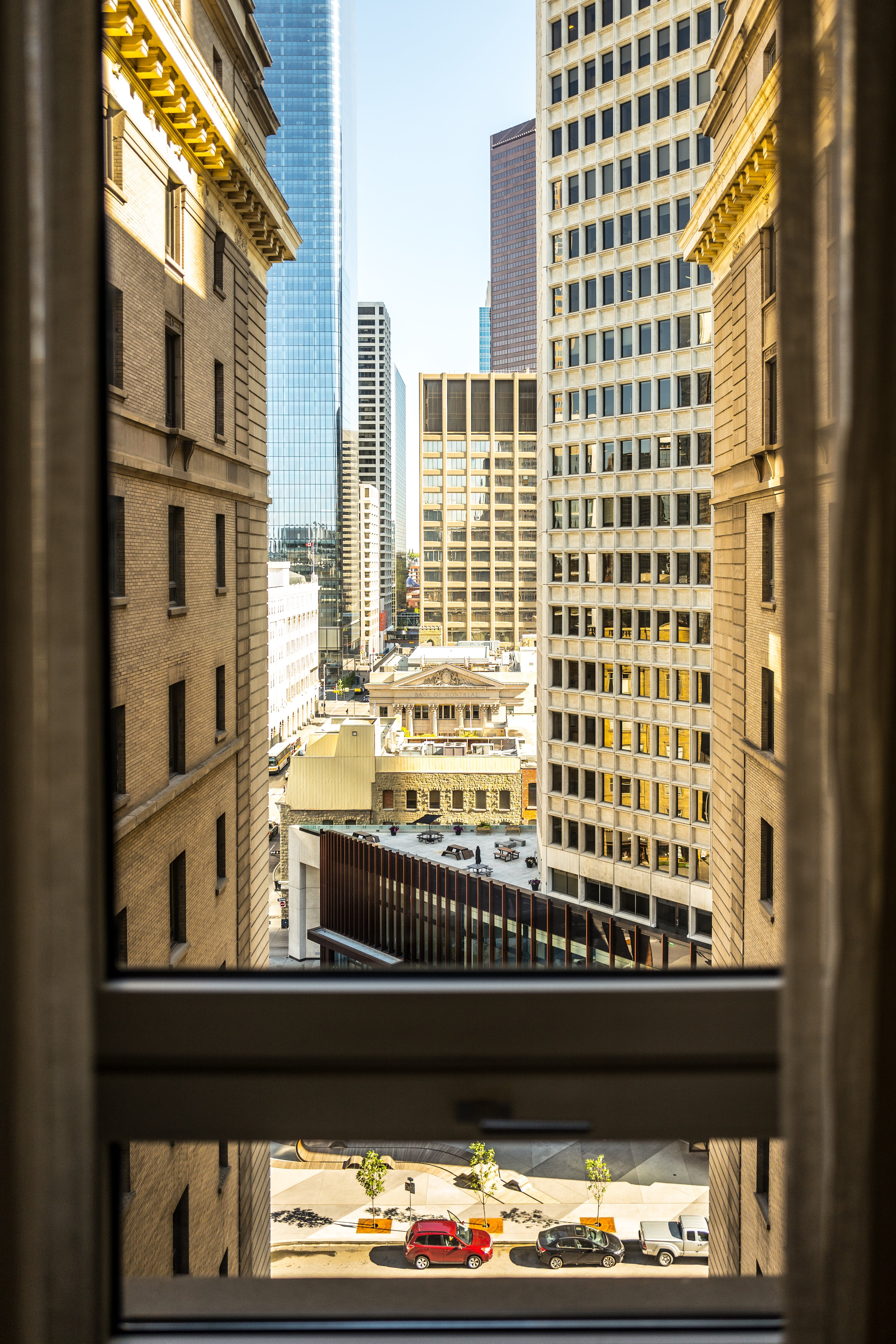 View of Buildings from a Window