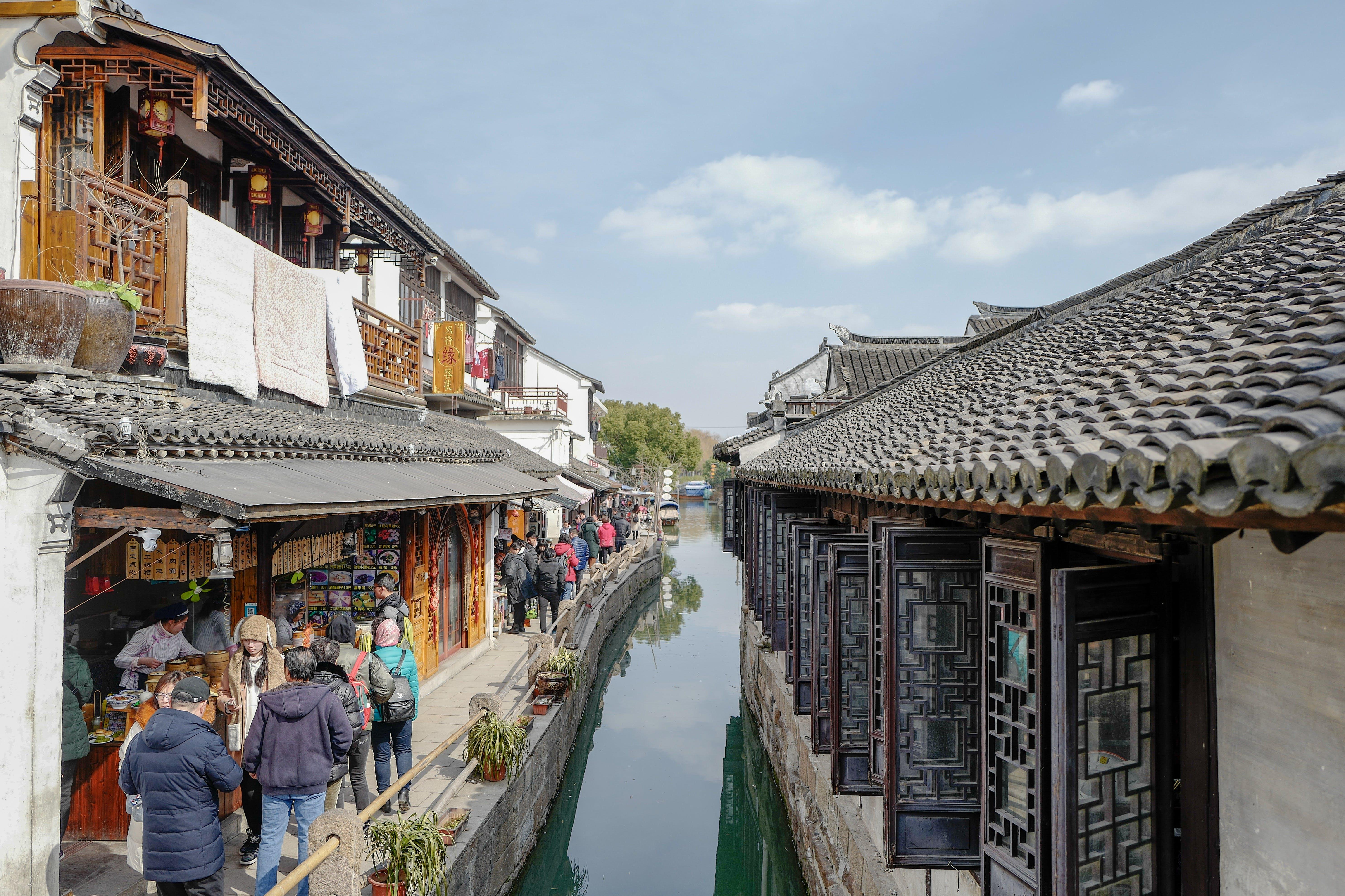 με αγορά, Άνθρωποι, αρχιτεκτονική, Ασιατική αρχιτεκτονική