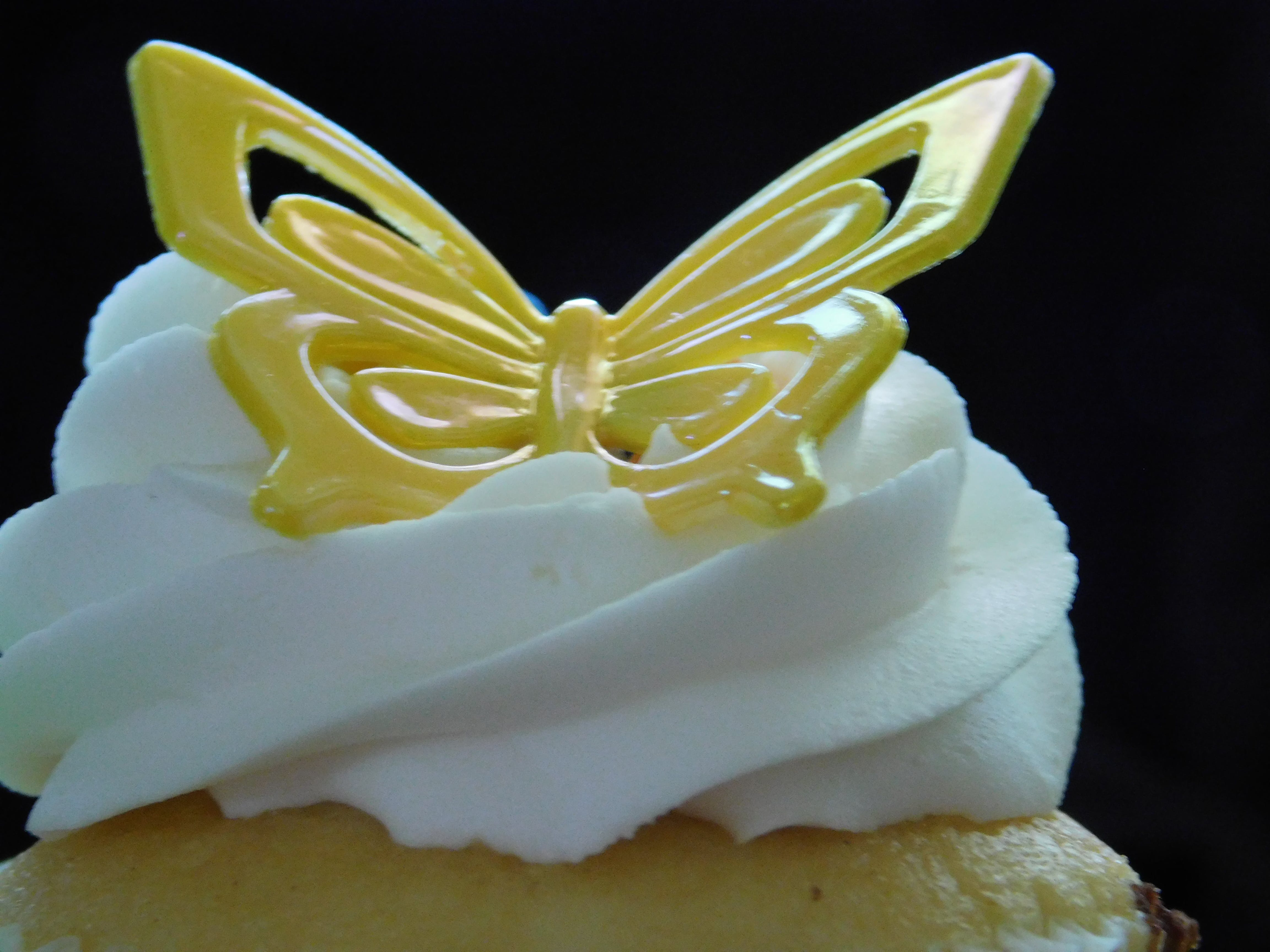 Free stock photo of butterfly, cupcake, dessert, sweets