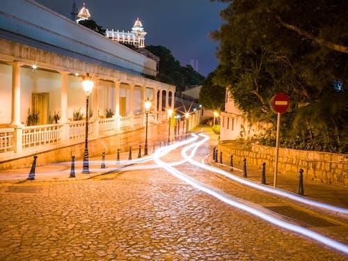光迹, 城鎮, 建造, 晚間 的 免費圖庫相片