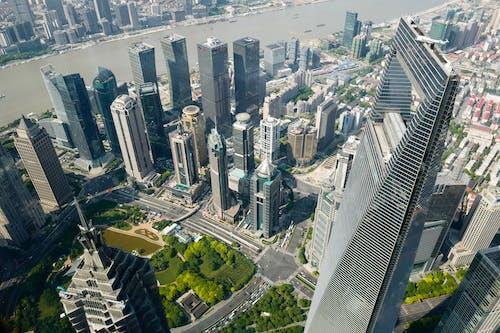 Foto profissional grátis de aéreo, alto, arquitetura, cena