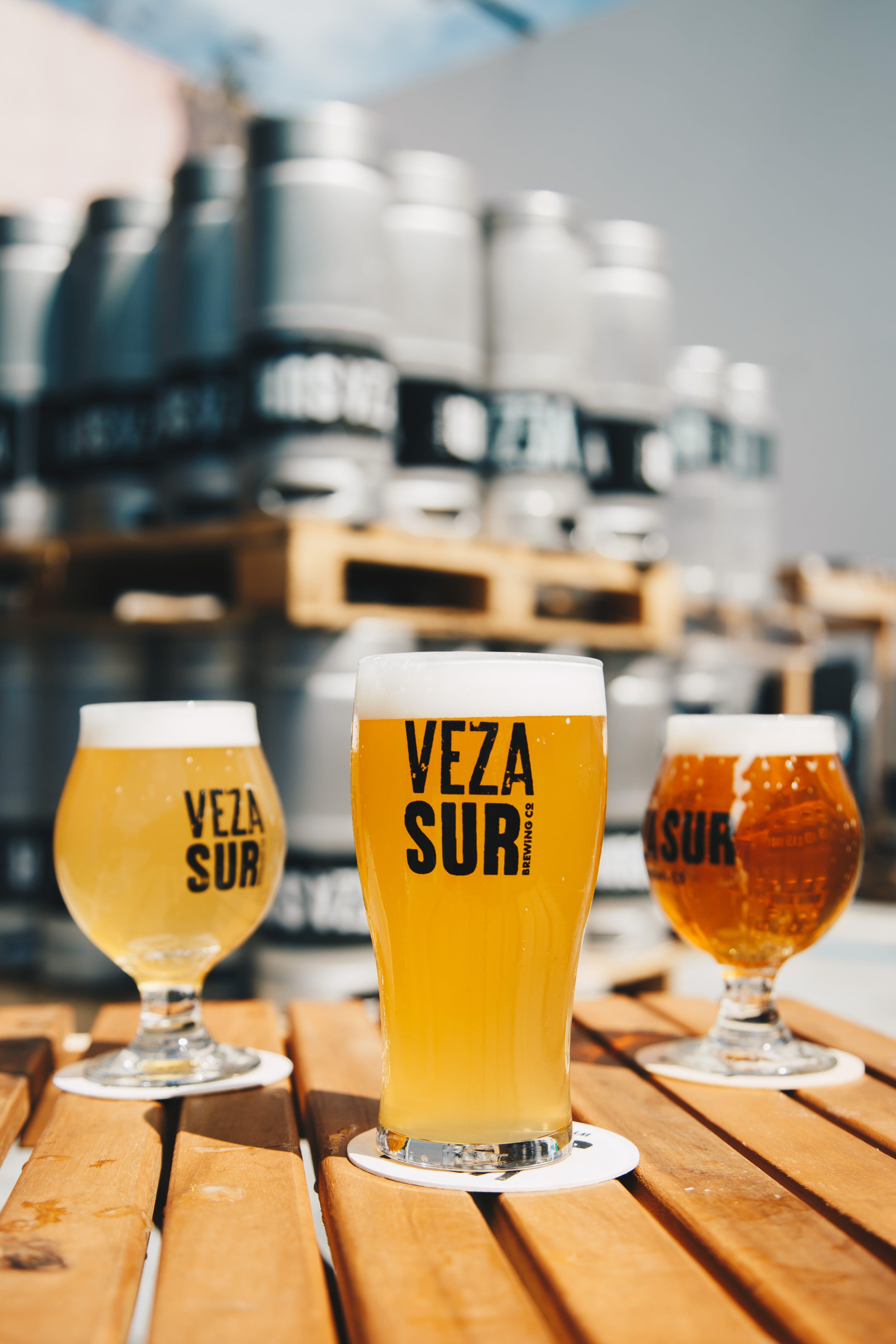 Three Veza Sur Beers