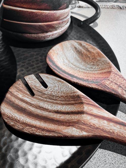 Základová fotografie zdarma na téma dřevo, kuchyně, lžíce, nástroje