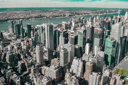 コンテンポラリー, シティ, タワー, ハイアングルショットの無料の写真素材